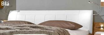 postel toledo v bílé kožence